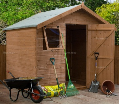 Pressure Treated Transverse Apex Shed 358 - Shiplap