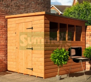 Shiplap Pent Shed 124 - T and G Floor and Roof