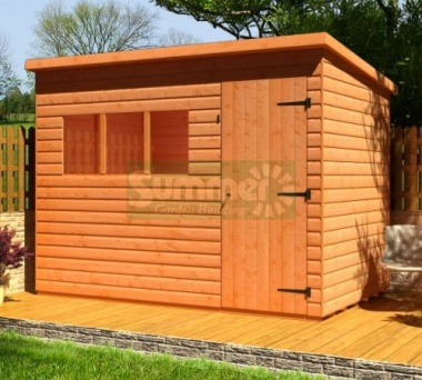 Shiplap Pent Shed 128 - T and G Floor and Roof