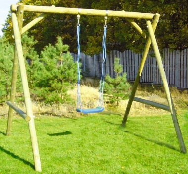 Wooden Swing Set 612 - Single Swing, Pressure Treated