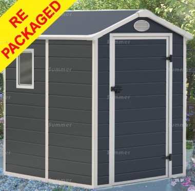 Repackaged Steel Framed Plastic Shed 652 - Honeycomb Polypropylene Panels