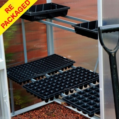Repackaged Greenhouse Staging 340 - 1 & 2 Tier, Aluminium
